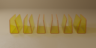 Pack of Six Yellow Blood Bag Holders