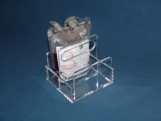 Two Compartment Blood Bag Tray