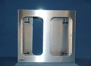 Stainless Steel Double Glove Box Holder